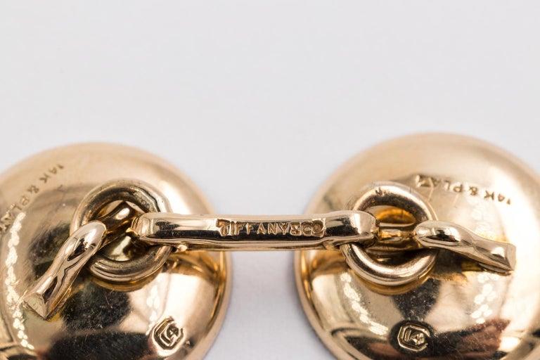 Men's Edwardian Tiffany & Co. 14 Karat Platinum Cufflinks and Shirt Studs Set in a Box For Sale