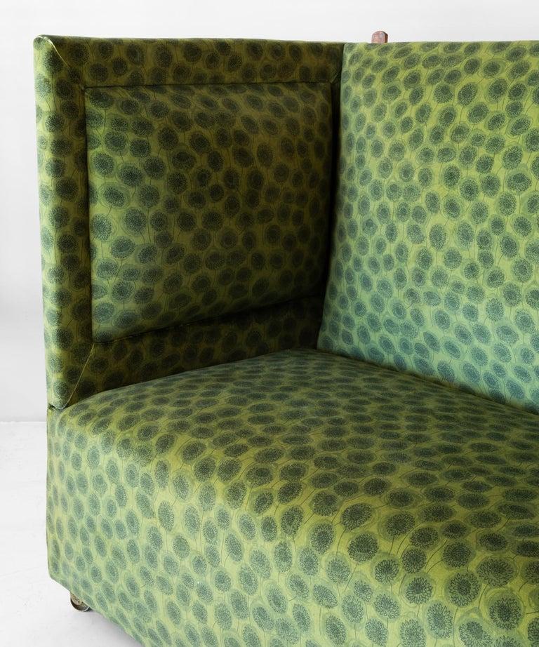 Edwardian Velvet Knole Sofa, England, circa 1910 In Good Condition For Sale In Culver City, CA