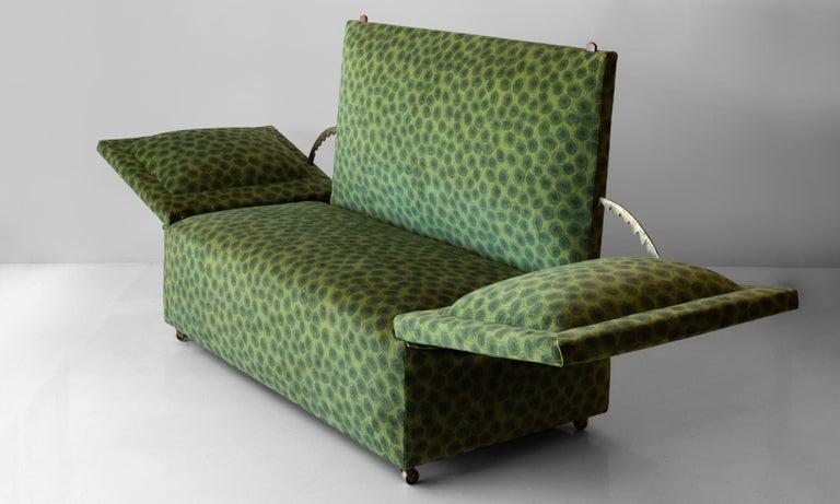 20th Century Edwardian Velvet Knole Sofa, England, circa 1910 For Sale