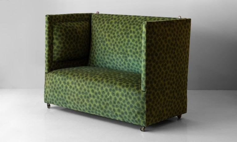 Edwardian Velvet Knole Sofa, England, circa 1910 For Sale 1
