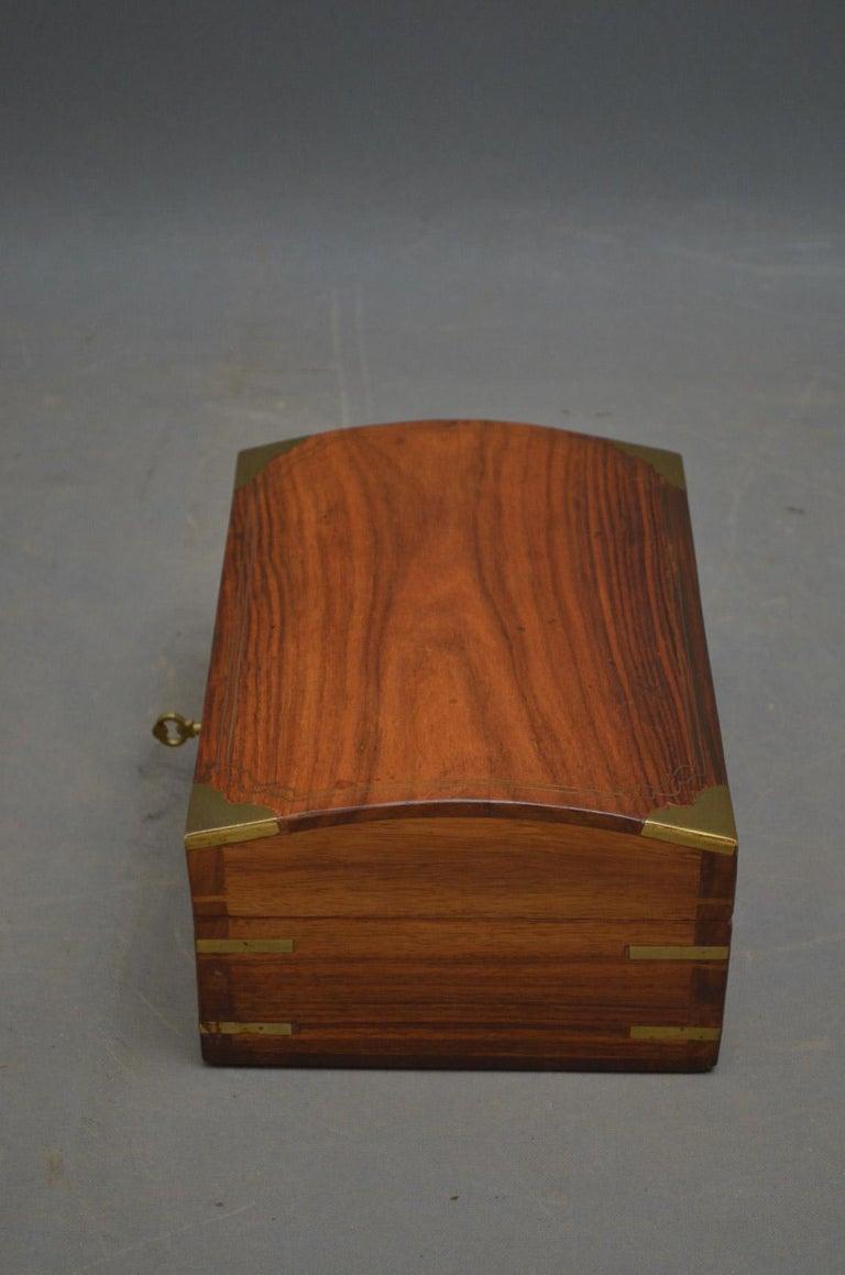 Edwardian Walnut Jewelry Box For Sale 2