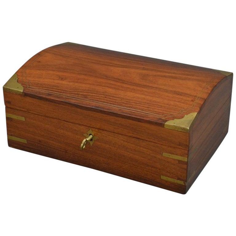 Edwardian Walnut Jewelry Box For Sale