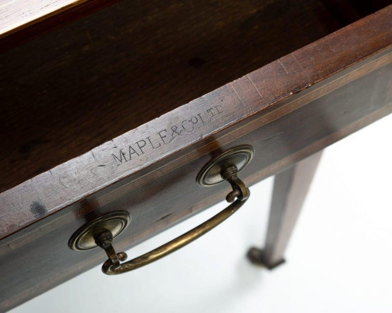 20th Century Edwardian Writing or Side Table by Maple and Co. For Sale