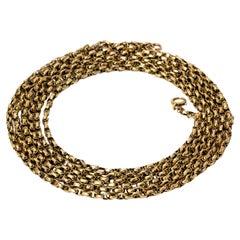 Edwardian Yellow Gold Long Guard Chain