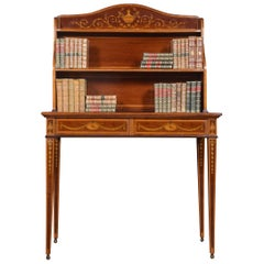Edwards and Roberts Mahogany and Satinwood Inlaid Writing Table