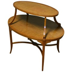 Edwards and Roberts Satinwood Two-Tier Occasional / Lamp Table
