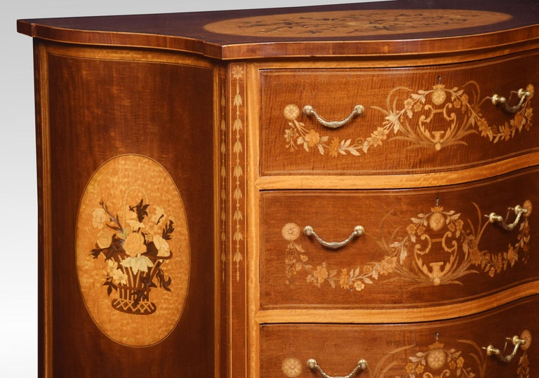 Edwards and Roberts Serpentine Chest of Drawers For Sale 7