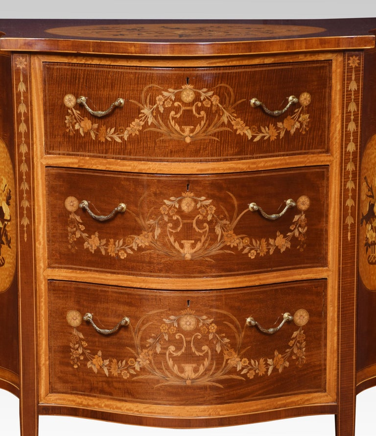 British Edwards and Roberts Serpentine Chest of Drawers For Sale