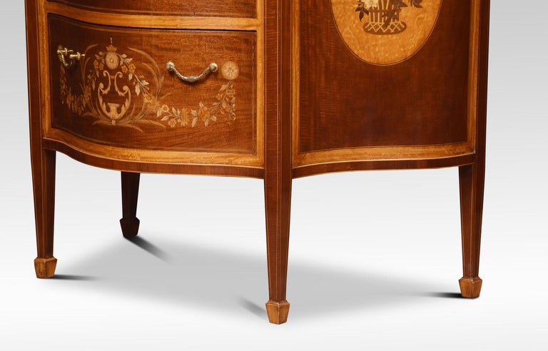 19th Century Edwards and Roberts Serpentine Chest of Drawers For Sale