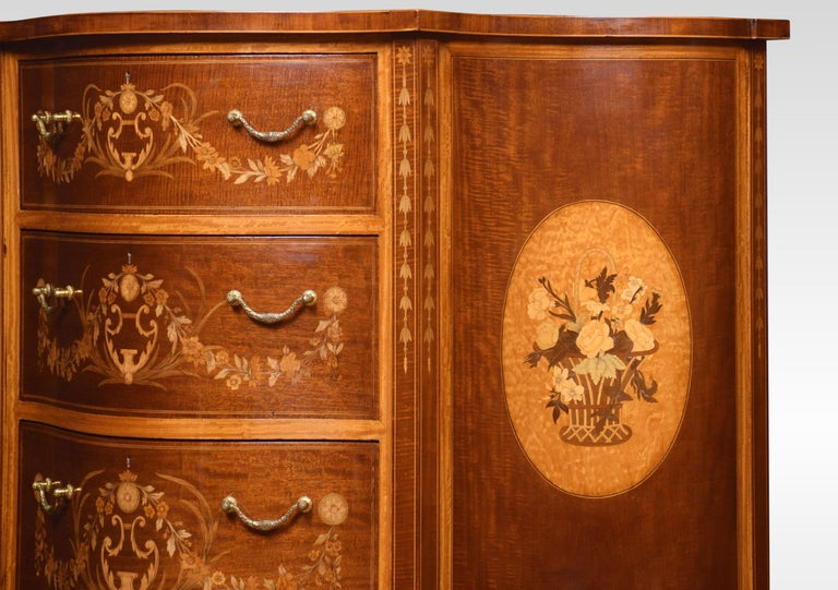 Mahogany Edwards and Roberts Serpentine Chest of Drawers For Sale