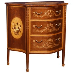 Edwards and Roberts Serpentine Chest of Drawers