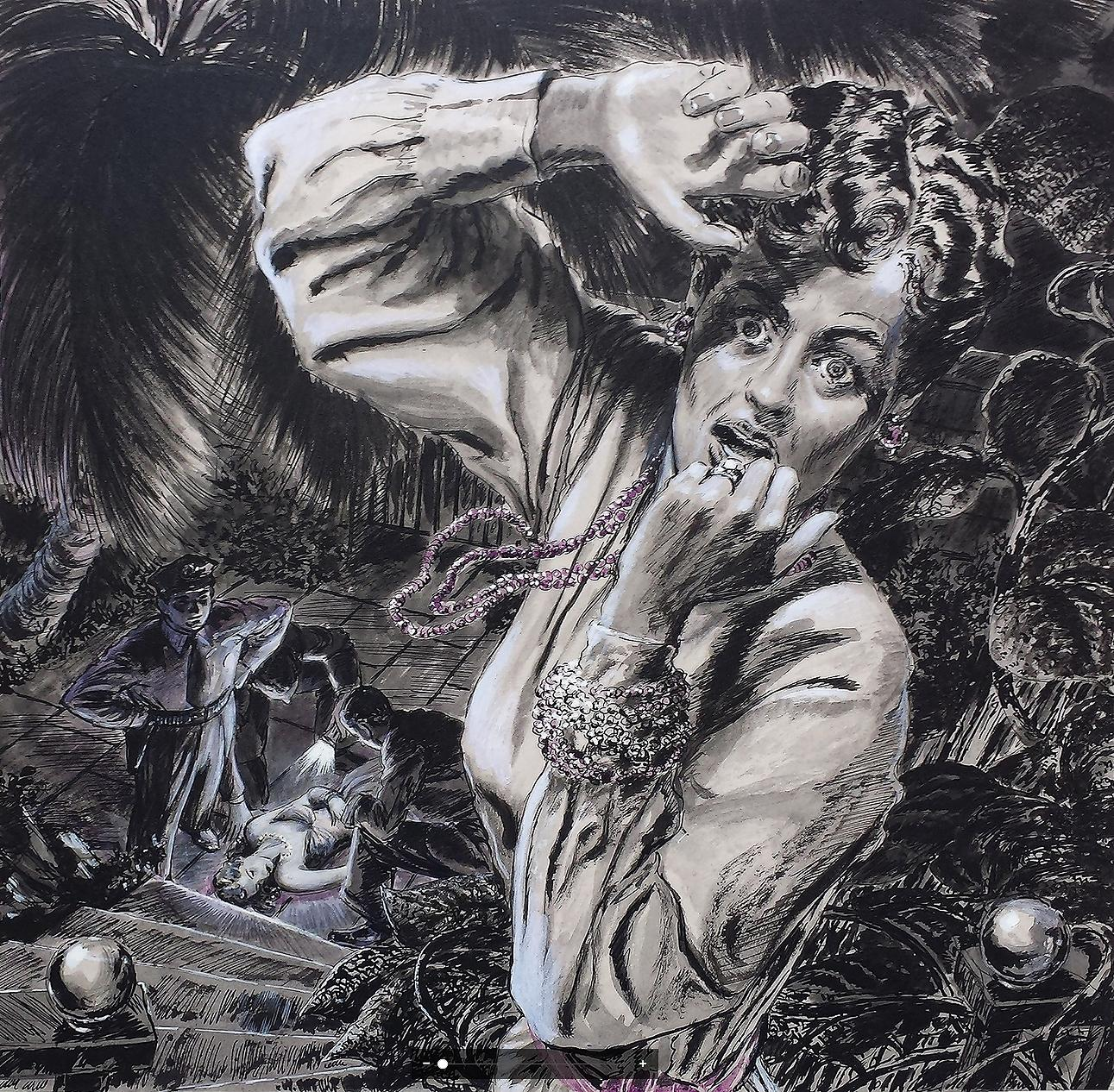 "Saturday Evening Post Illustration. "" The Devil's Stronghold"" Original Magazine"