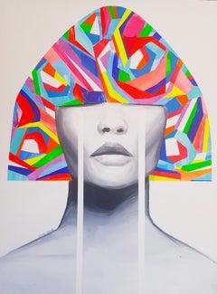 Hidden Desires 5 - original Painting, female, Portrait, figurative, Popart, 21st
