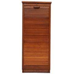 Eeka Oak File Cabinet Drawers Tambour Door