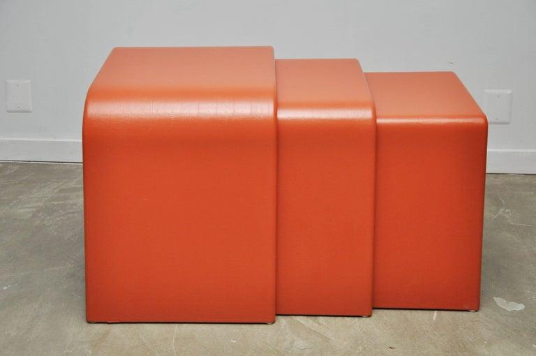 Eel Skin Nesting Tables For Sale 6