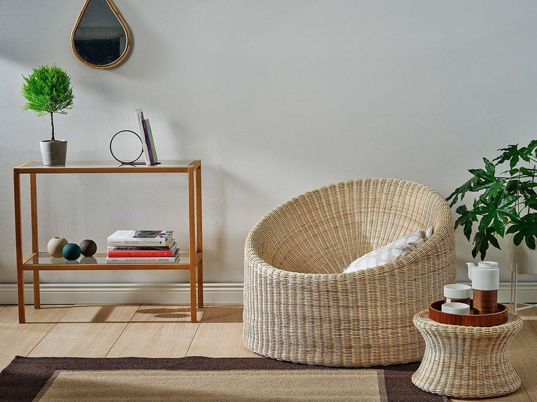 Contemporary Eero Aarnio Black Poly-Rattan Elephant Boot Chair For Sale