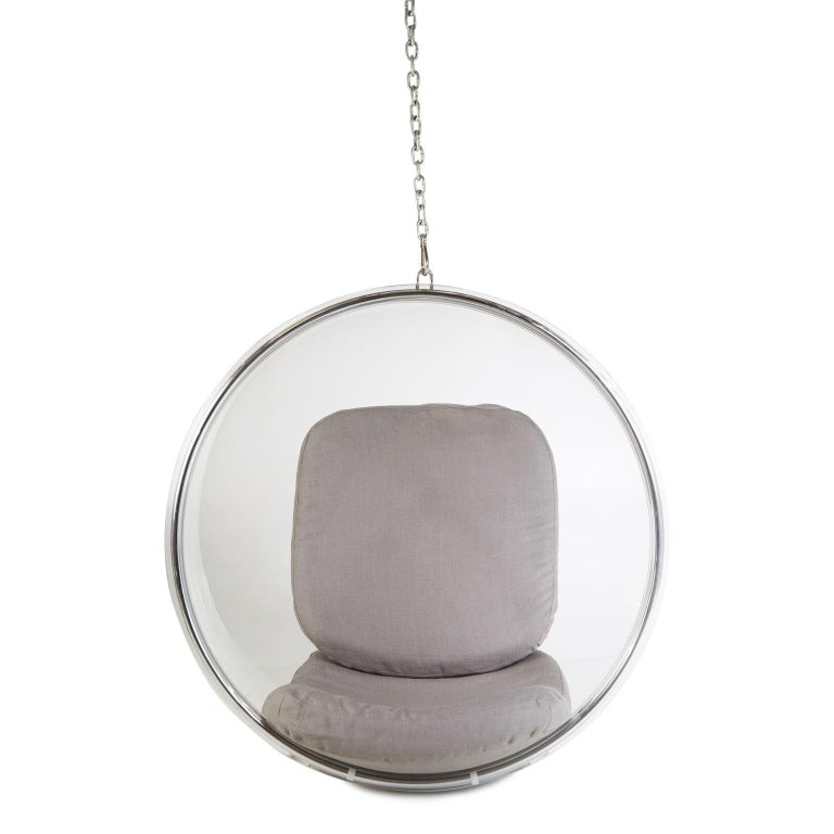 Mid-Century Modern Eero Aarnio for Adelta Lucite Hanging Bubble Chair For Sale
