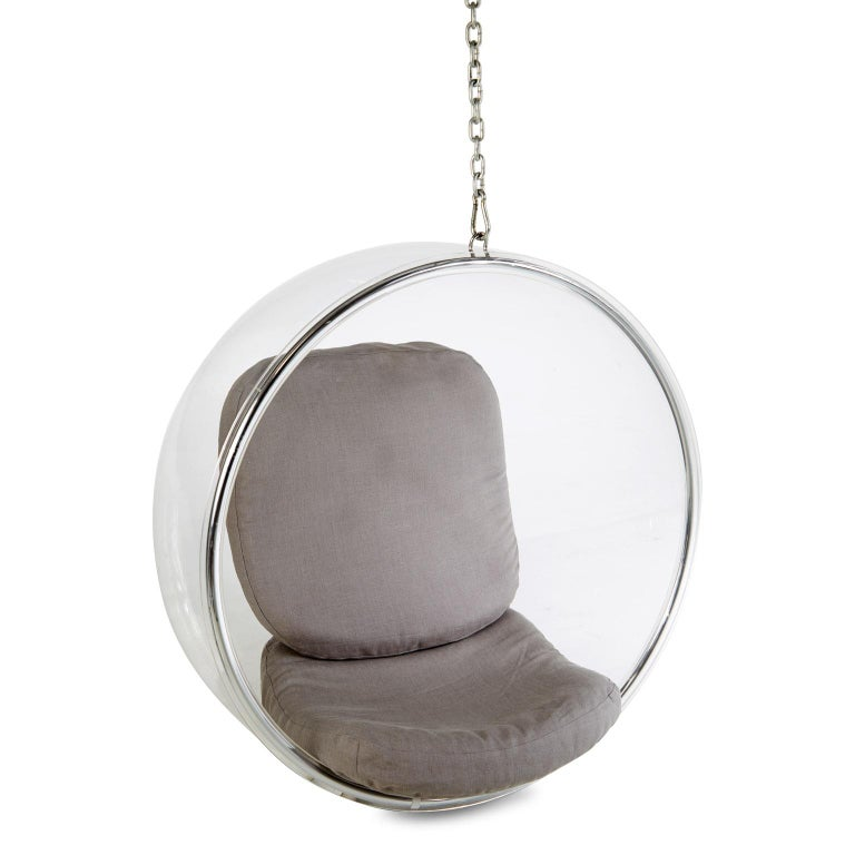 Eero Aarnio for Adelta Lucite Hanging Bubble Chair For Sale