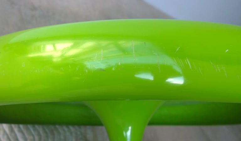 Eero Aarnio Kantarelli Molded Plastic Green Fiberglass Occasional Side Table For Sale 5