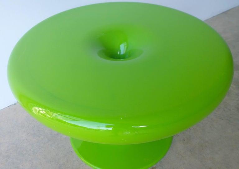 Eero Aarnio Kantarelli Molded Plastic Green Fiberglass Occasional Side Table For Sale 9