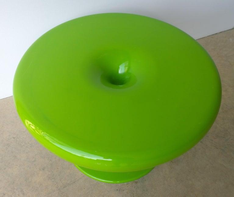 Eero Aarnio Kantarelli Molded Plastic Green Fiberglass Occasional Side Table For Sale 10