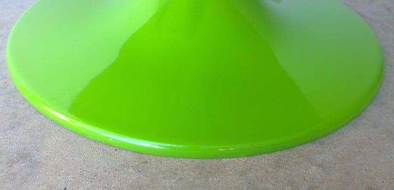 Eero Aarnio Kantarelli Molded Plastic Green Fiberglass Occasional Side Table For Sale 11