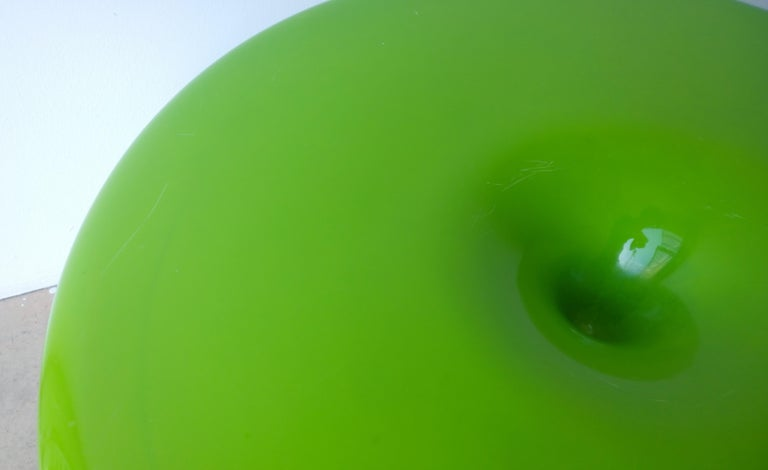 Eero Aarnio Kantarelli Molded Plastic Green Fiberglass Occasional Side Table For Sale 6