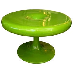 Eero Aarnio Kantarelli Molded Plastic Green Fiberglass Occasional Side Table