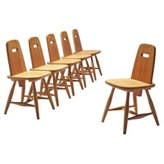 Eero Aarnio Set of Six Dining Chairs in Solid Pine