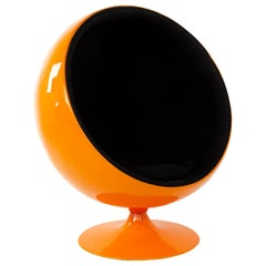 Eero Aarnio Style Mid Century Orange Ball Chair
