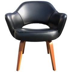 Eero Saarinen Armchair for Knoll Walnut Wood Legs