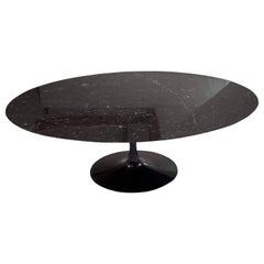 Eero Saarinen, Black Marquina Top Tulip Table. Black Base