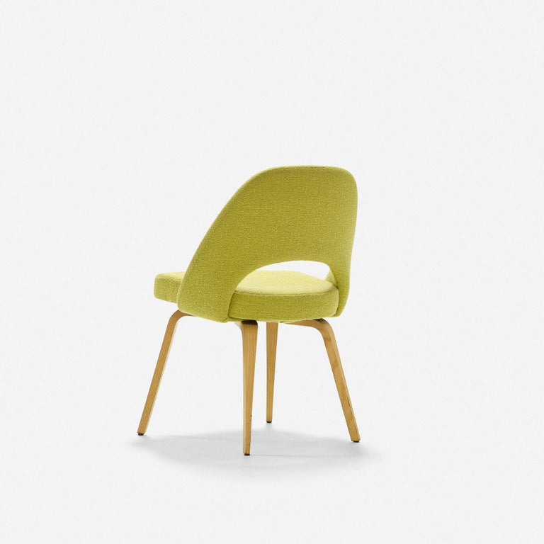 Fabric Eero Saarinen Dining Chairs for Knoll For Sale