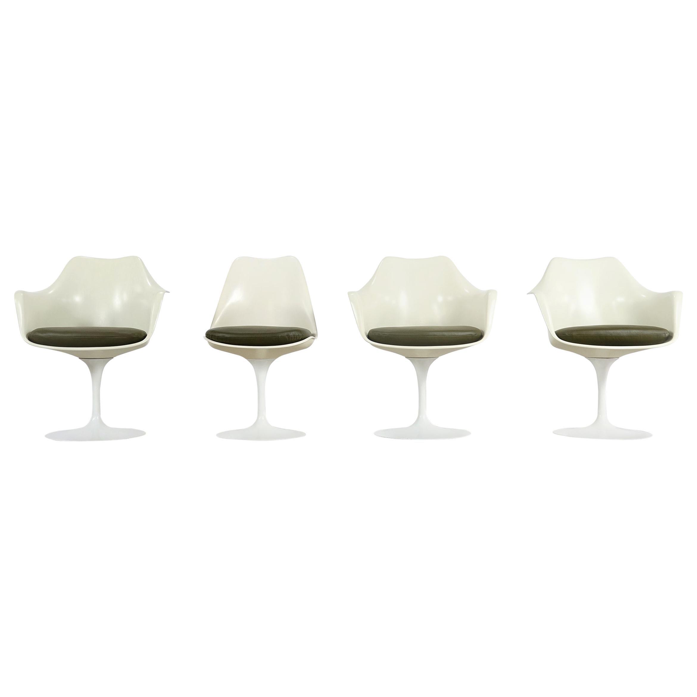 Eero Saarinen Early Tulip Armchair 150 and Sidechair 151 for Knoll International