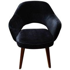 Eero Saarinen Executive Chair for Knoll in Black Mohair