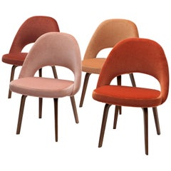 Eero Saarinen Executive Side Chairs with Wooden Legs