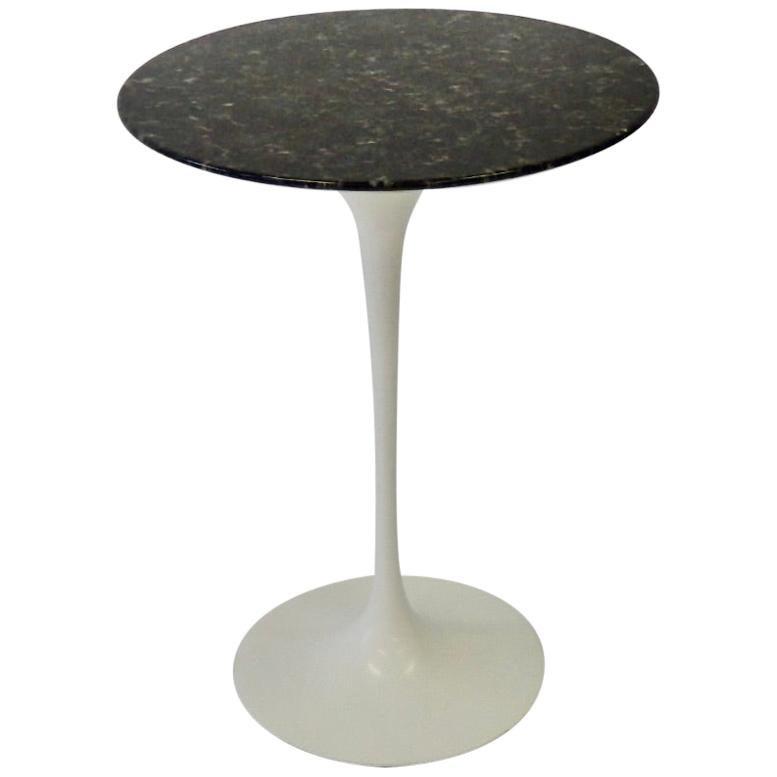 Eero Saarinen for Knoll Custom Black Stone Top on Early Tulip Table Base Base