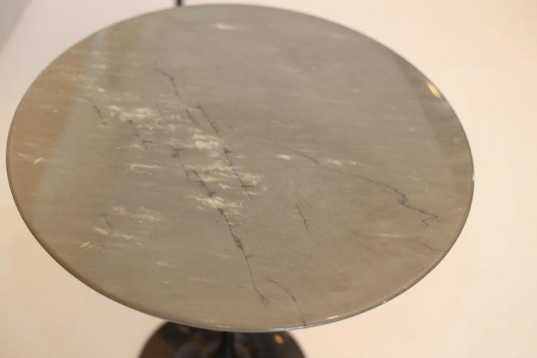 Aluminum Eero Saarinen for Knoll Gray Marble Tulip Side Tables For Sale