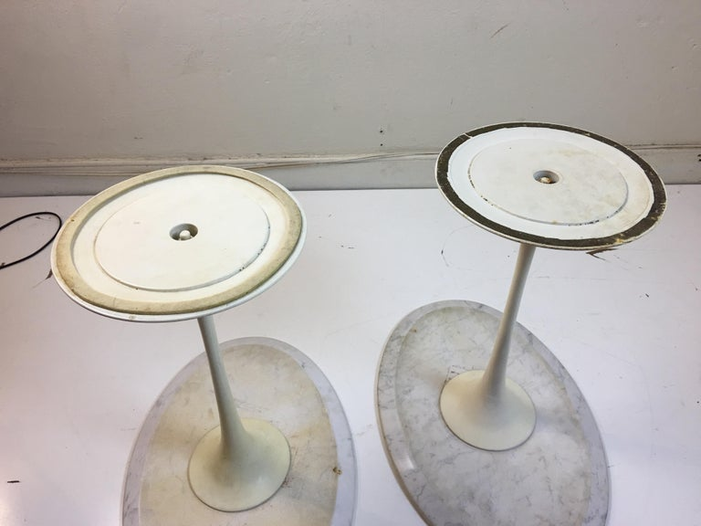 Eero Saarinen for Knoll Marble Oval Side Tables For Sale 1