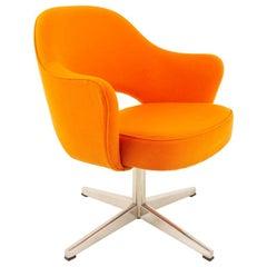 Eero Saarinen for Knoll MCM Orange Tweed Executive Office Dining Chairs, 6