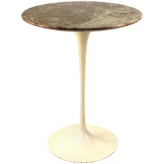 Eero Saarinen for Knoll Mid-Century Modern Tulip Side Table with Marble Top