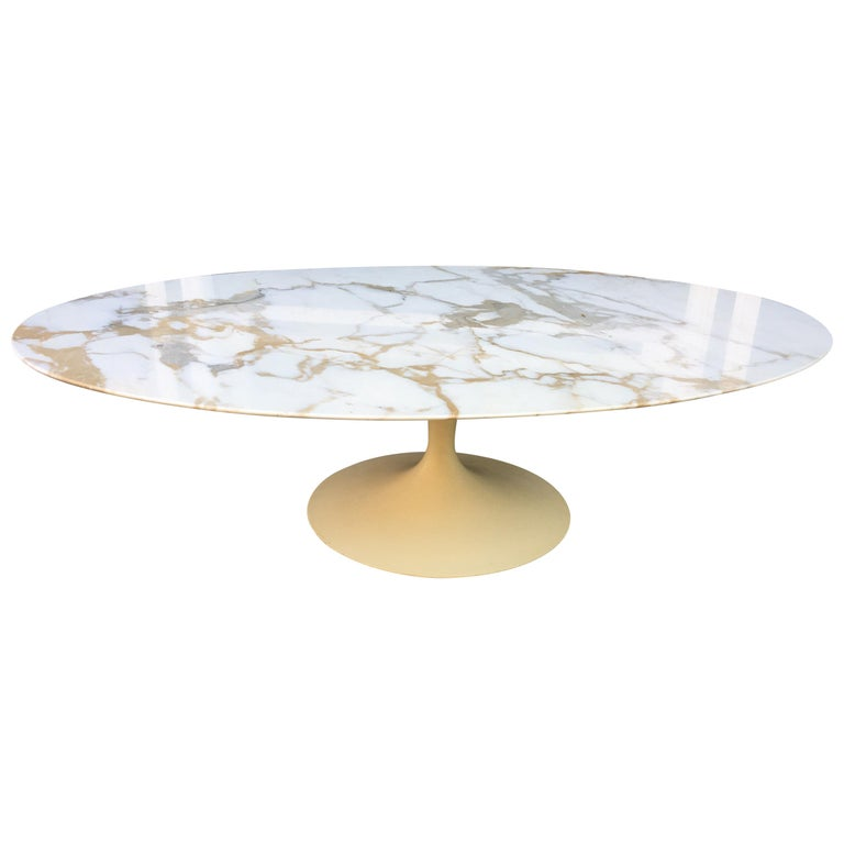 Eero Saarinen For Knoll Oval Marble Coffee Table At 1stdibs