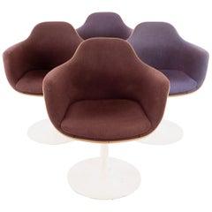 Eero Saarinen for Knoll Style Mid Century Tulip Dining Room Armchairs, Set of 4