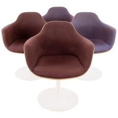 Eero Saarinen for Knoll Style Midcentury Tulip Dining Room Armchairs, Set of 4