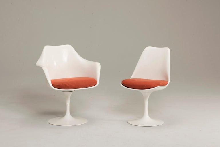 Mid-Century Modern Eero Saarinen for Knoll Tulip Pedestal Armless Chairs 6 Available For Sale
