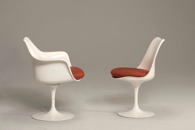 European Eero Saarinen for Knoll Tulip Pedestal Armless Chairs 6 Available For Sale