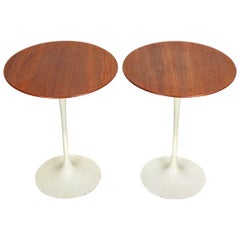 Eero Saarinen for Knoll Tulip Side Tables in Walnut
