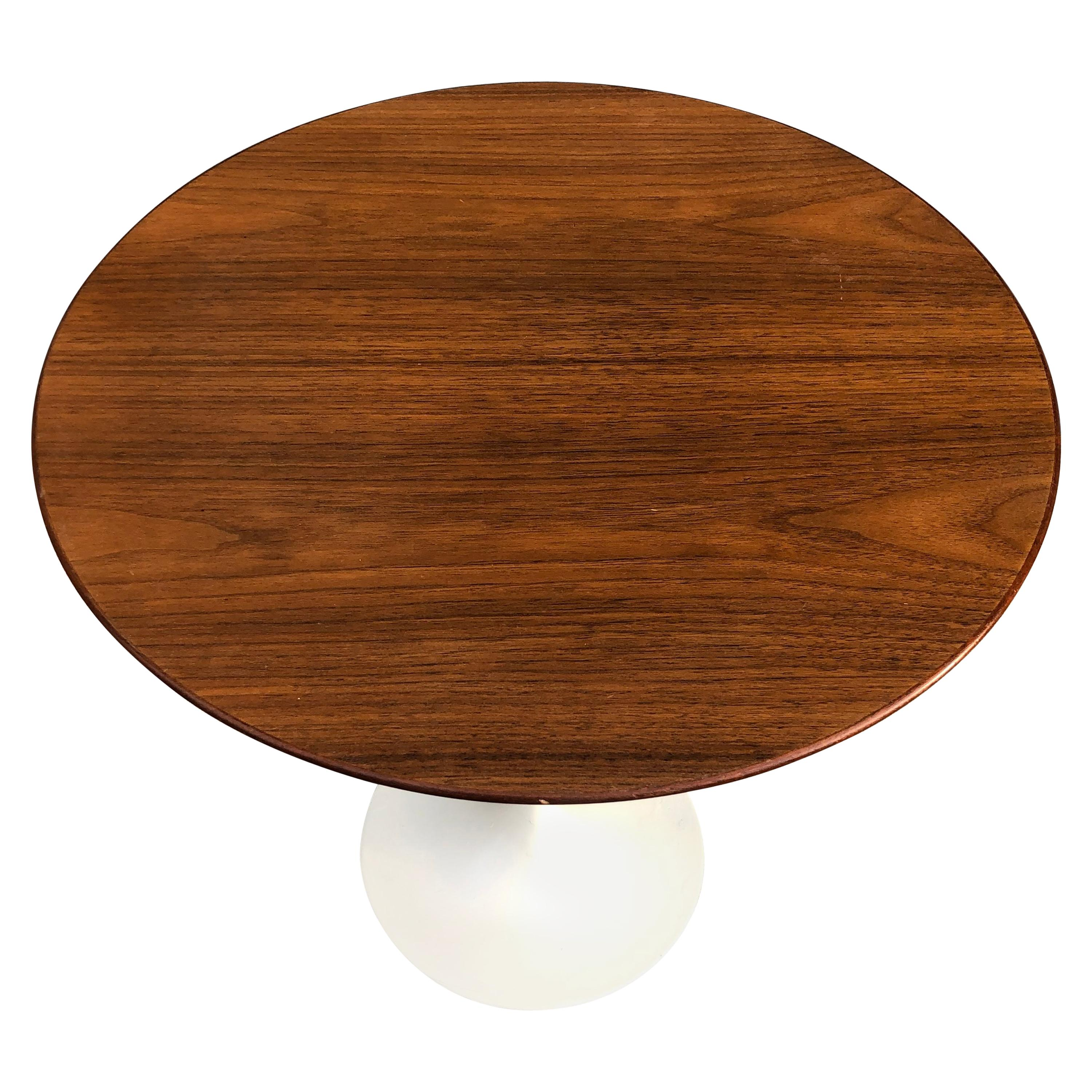 Eero Saarinen for Knoll Walnut Tulip Side Table
