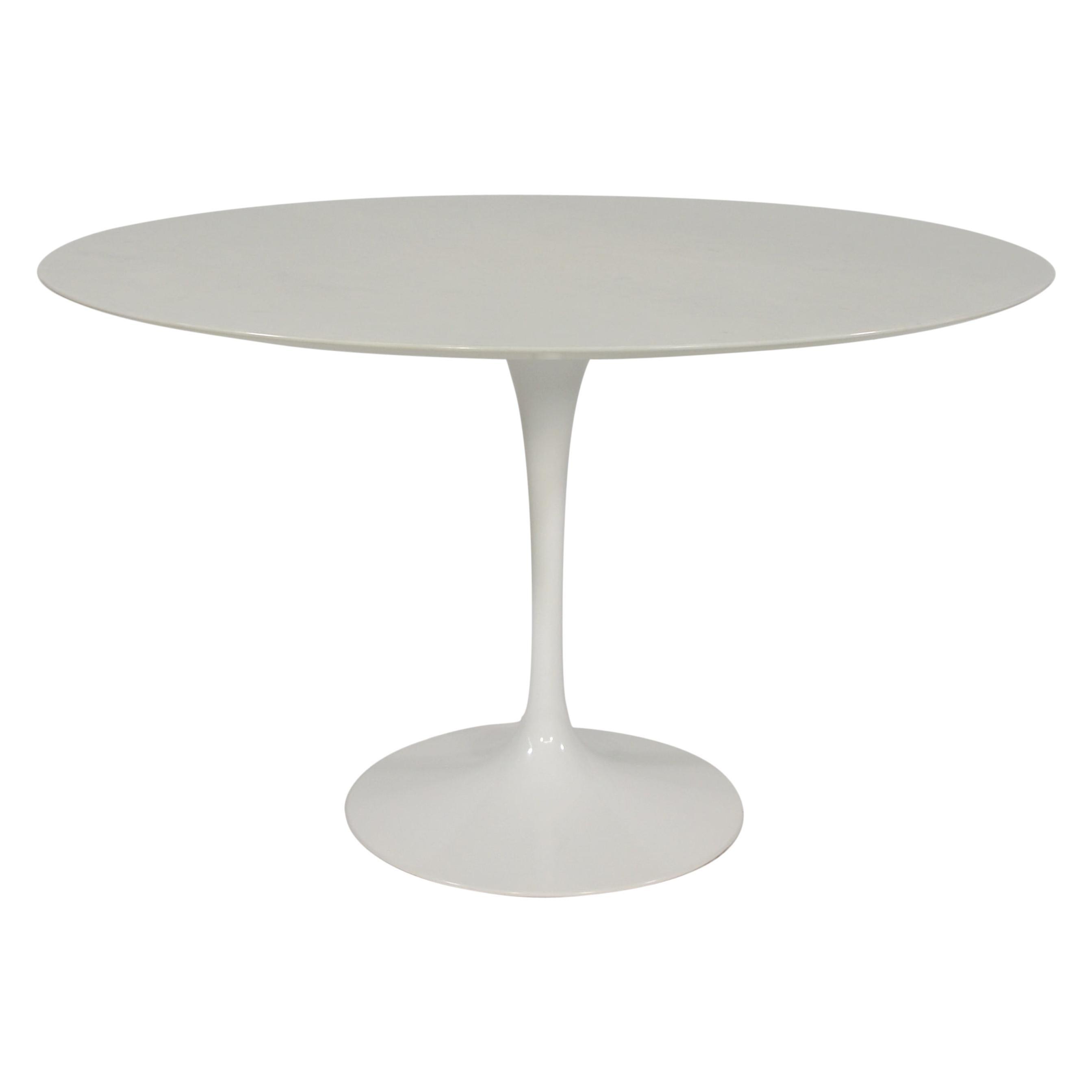 Eero Saarinen for Knoll White Marble Tulip Dining Table
