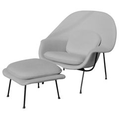Eero Saarinen for Knoll Womb Chair with Ottoman